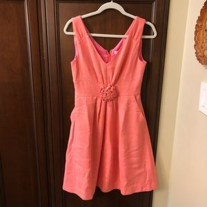 Lilly Pulitzer Dress with Flower Detail! Size 4!